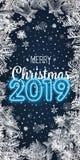 Рождество иллюстрации вектора и счастливый Новый Год запачканная синь предпосылки падая снежок обои 2019 2018 Приветствие литерно бесплатная иллюстрация