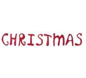 рождество искусства сделало веселые бумажные слова Стоковые Изображения RF