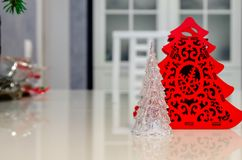 Рождество и Новый Год, ювелирные изделия, дерево, символы Стоковая Фотография RF