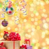 Рождество и Новый Год background-03 Стоковая Фотография
