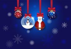 Рождество и предпосылка вектора украшения шарика голубая бесплатная иллюстрация