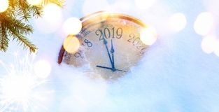 Рождество 2019 и приглашения Новые Годы предпосылки знамени стоковое изображение