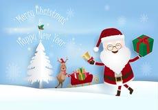 Рождество и счастливая предпосылка курортного сезона Нового Года бесплатная иллюстрация
