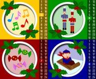 рождество календара 2 пришествий иллюстрация штока