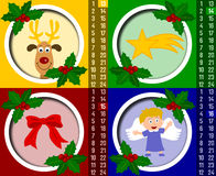 рождество календара 4 пришествий иллюстрация вектора