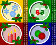 рождество календара 5 пришествий иллюстрация вектора