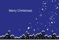 рождество карточки веселое иллюстрация штока