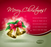 рождество карточки колоколов Иллюстрация штока