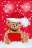 рождество карточки медведя меньший игрушечный Стоковые Изображения RF