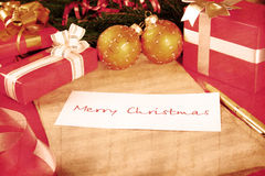 рождество карточки ретро Стоковые Изображения