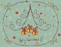 рождество карточки ретро иллюстрация вектора