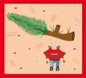 рождество карточки смешное иллюстрация вектора