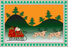 рождество карточки смешное Стоковые Фото