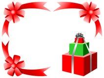 рождество карточки смычка Стоковое Фото