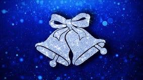Рождество колоколы и падуба элемента моргать предпосылка частиц значка