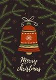 Рождество колокол Стоковая Фотография