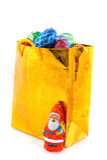 рождество конфеты мешка золотистое стоковые фотографии rf