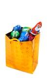 рождество конфеты мешка золотистое стоковые фото