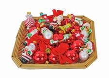 рождество корзины орнаментирует малое Стоковая Фотография