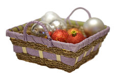 рождество корзины шарика Стоковое фото RF