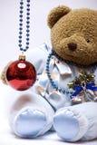 рождество медведя шарика мягкое стоковая фотография