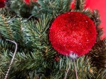 рождество моя версия вектора вала портфолио Украшенный с красочными шариками рождества стоковая фотография