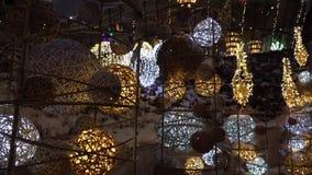 Рождество настроенное около fps роскошных магазинов 25 сток-видео