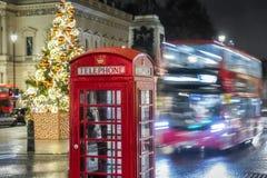 Рождество на месте Ватерлоо в Лондоне стоковые изображения rf