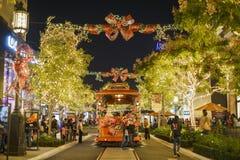 Рождество на торговом центре, Galleria Glendale Стоковые Изображения RF