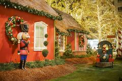 Рождество на торговом центре, Galleria Glendale Стоковое Фото