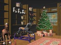 рождество немногая магазин Стоковые Изображения