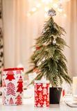 Рождество обедая украшение стоковое изображение