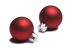 рождество орнаментирует белизну красного цвета 2 Стоковое фото RF
