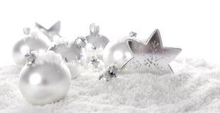 рождество орнаментирует белизну Стоковое Фото