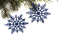 рождество орнаментирует вал снежинки Стоковые Изображения RF