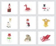 рождество орнаментирует вал Стоковое Изображение