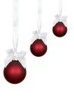 рождество орнаментирует красный цвет 3 Стоковые Изображения RF