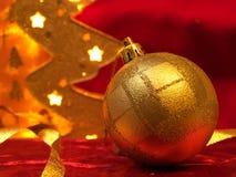 рождество орнаментирует красный цвет Стоковое Изображение