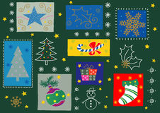 рождество орнаментирует некоторое Стоковое Изображение RF
