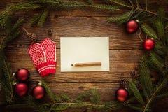 Рождество орнаментирует предпосылку, космос для текста Стоковые Фото
