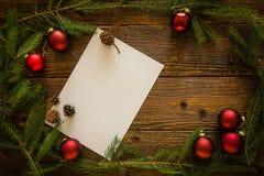 Рождество орнаментирует предпосылку, космос для текста Стоковая Фотография