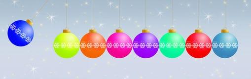 рождество орнаментирует радугу Стоковые Фото