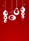 рождество орнаментирует ретро Стоковые Фото