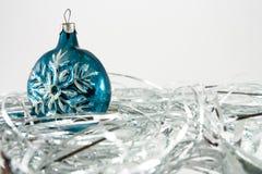 рождество орнаментирует снежинку Стоковые Изображения RF