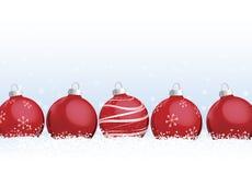 рождество орнаментирует снежок иллюстрация вектора