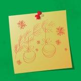 Рождество орнаментирует сообщение нарисованное рукой стоковые изображения