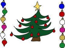 рождество орнаментирует 3 Стоковые Изображения RF
