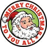 Рождество отца Santa Claus ретро иллюстрация штока