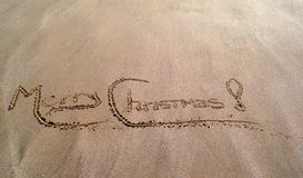 рождество пляжа веселое Стоковое Изображение