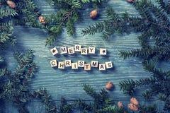 рождество помечает буквами веселое стоковое фото